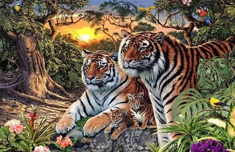 CAN YOU SPOT ALL THE TIGERS IN THIS JUNGLE SCENE?